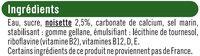 Boisson végétale saveur noisette - Ingrédients - fr