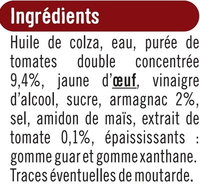 Sauce cocktail - Ingrédients - fr