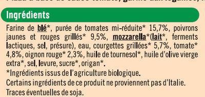 Pizza légumes - Ingrédients