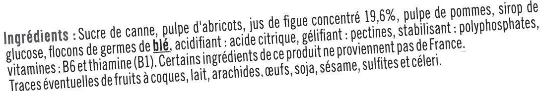 Booster sport + figue - Ingrédients