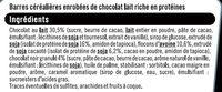 Barres protéinées au chocolat - Ingrédients - fr