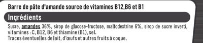 Barres sport+ amande - Ingredients - fr