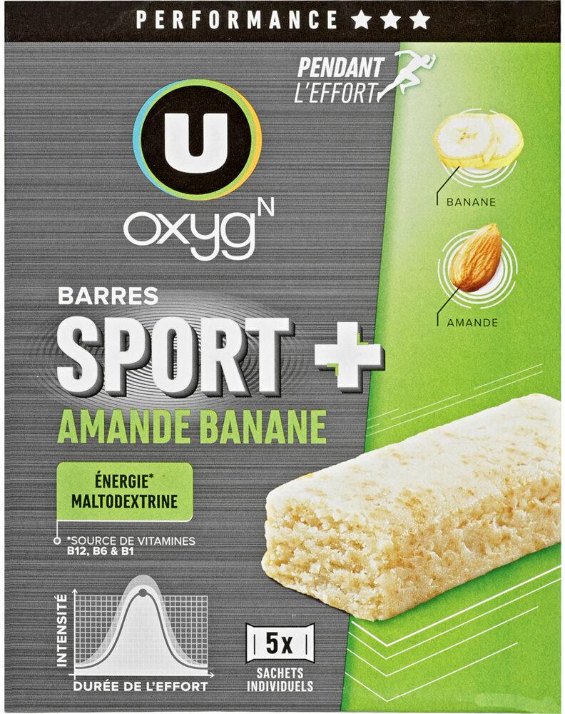 Barres sport+ amande et banane - Product - fr