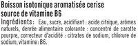 Boisson sport isotonique cerise - Ingrédients - fr