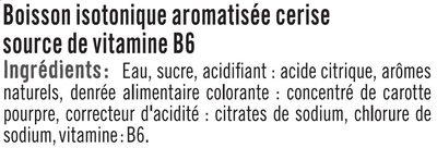 Boisson sport isotonique cerise - Ingrédients