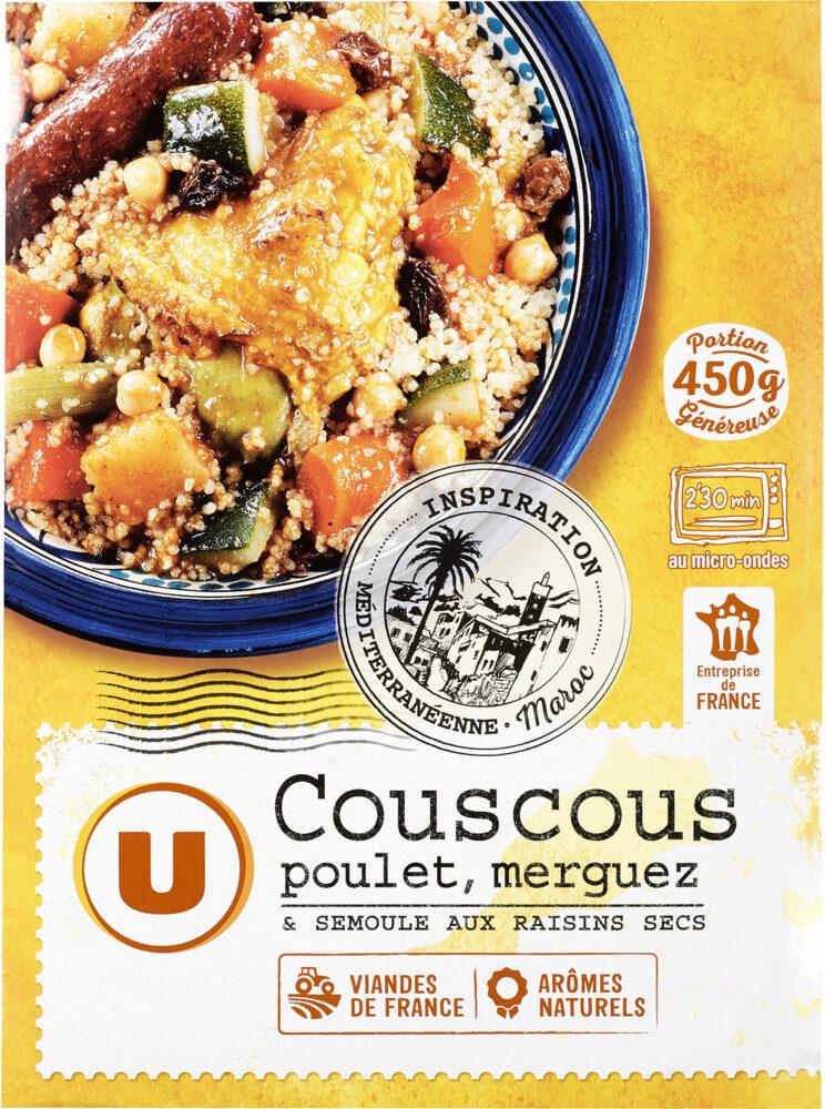 Couscous légumes poulet semoule de blé et merguez - Produit - fr
