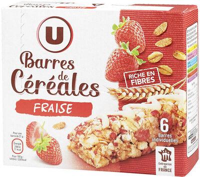 Barres céréales blé complet fraise - Product