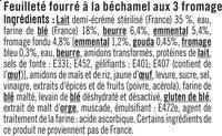 Roulés aux 3 fromages - Ingrédients - fr