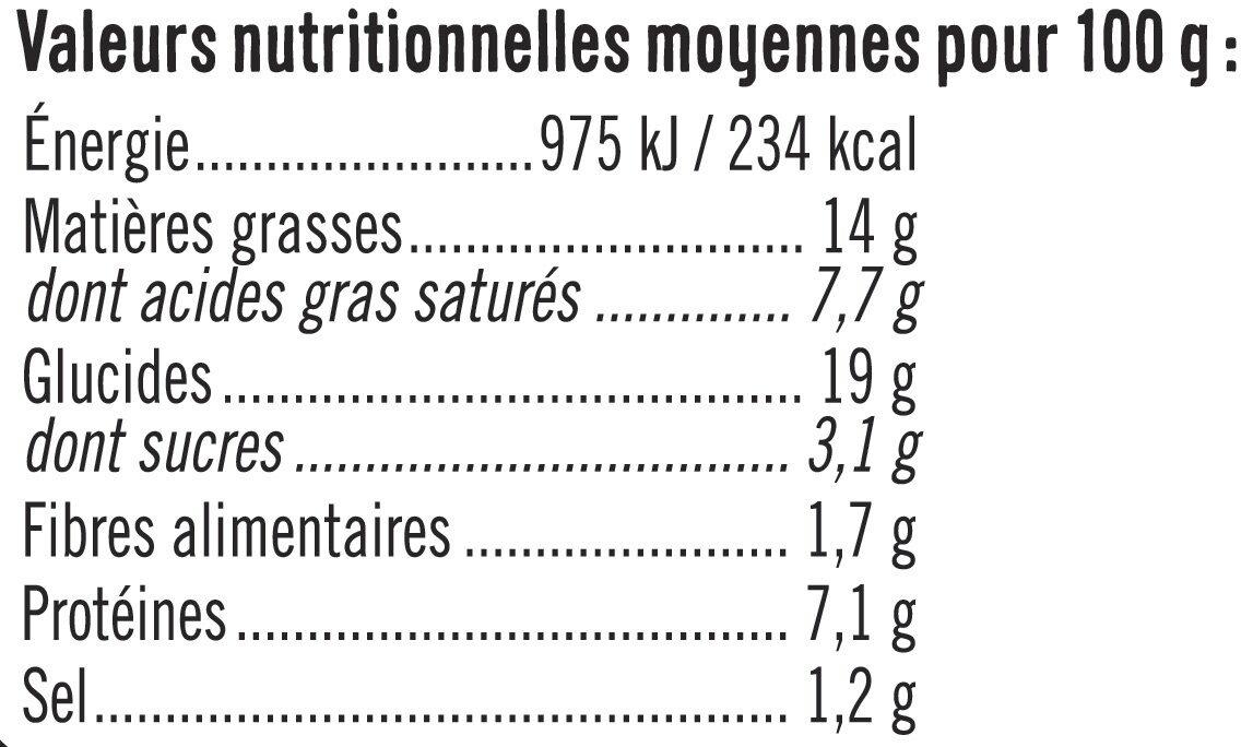 Roulés aux 3 fromages - Informations nutritionnelles - fr