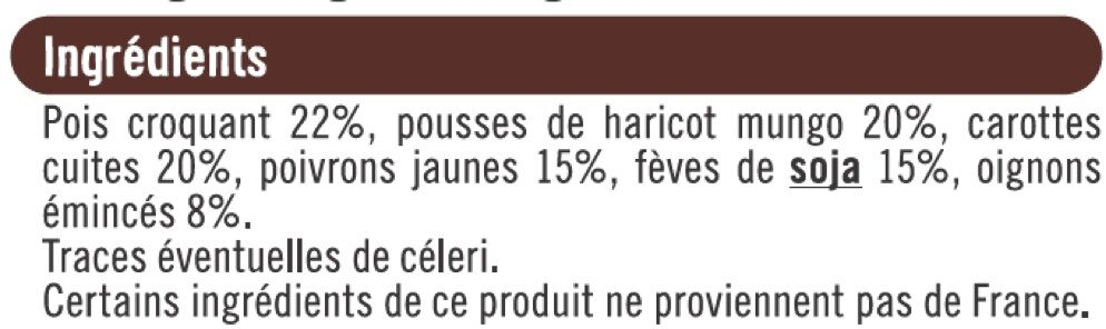 Légumes pour wok - Ingrédients - fr