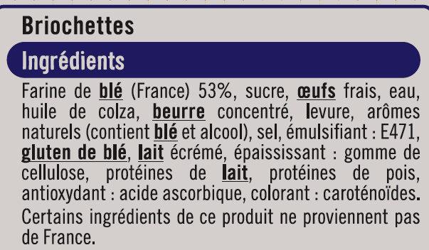 Briochettes - Ingrédients - fr