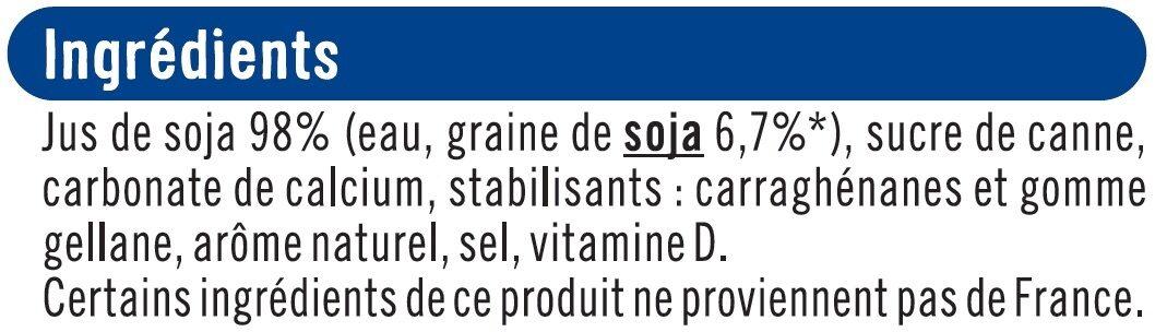 Boisson végétale au soja calcium - Ingrédients - fr