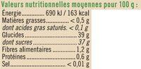 Préparation aux fruits myrtille et acérola - Informations nutritionnelles - fr