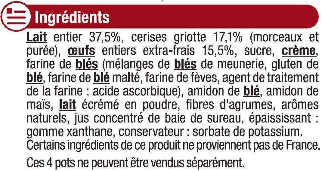 Clafoutis aux cerise - Ingredients - fr