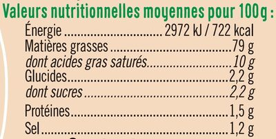 Mayonnaise squeeze - Informations nutritionnelles