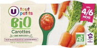 Bols de carottes sans morceaux U_TOUT_PETITS Bio - Product - fr