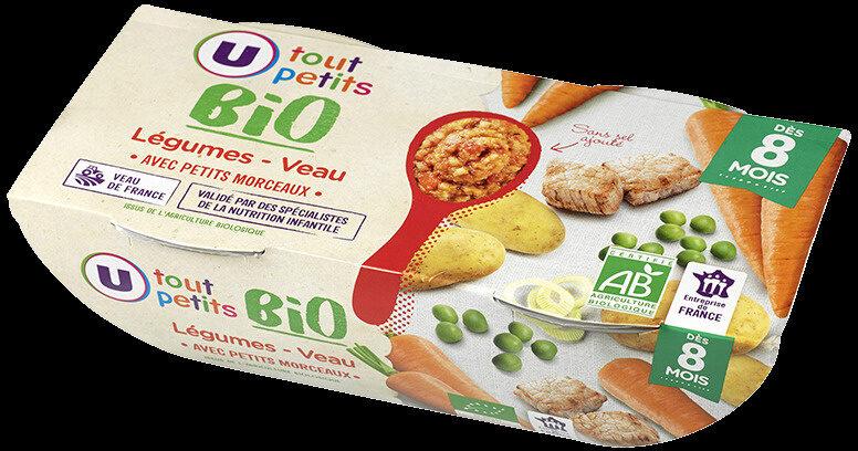 Bols légumes veau avec morceaux bio 8 mois - Product