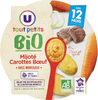 Assiette mijoté de carottes et boeuf U_TOUT_PETITS Bio - Produit