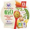 Assiette de petits pois et vea U_BIO U_TOUT_PETITS Bio - Produit