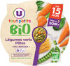 Assiette de soir aux légumes verts et pâtes bio - Product