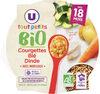 Assiette de courgette blé et dinde bio U_TOUT_PETITS Bio - Prodotto