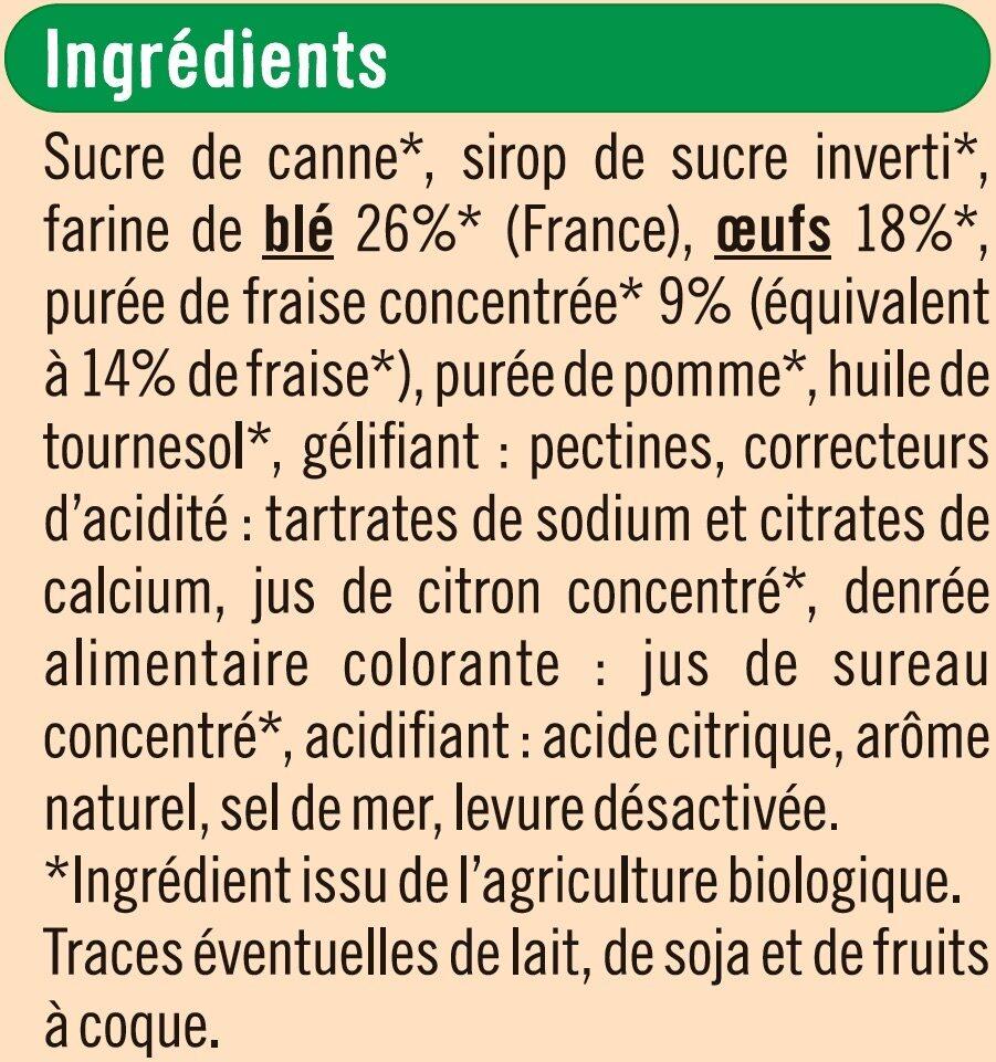 Barquettes à la fraise - Ingrediënten - fr