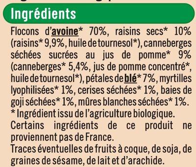 Muesli super fruits - Ingredients - fr