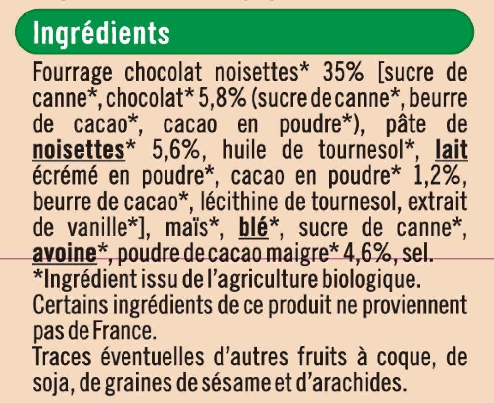 Céréales fourrées chocolat noisettes - Ingredienti - fr