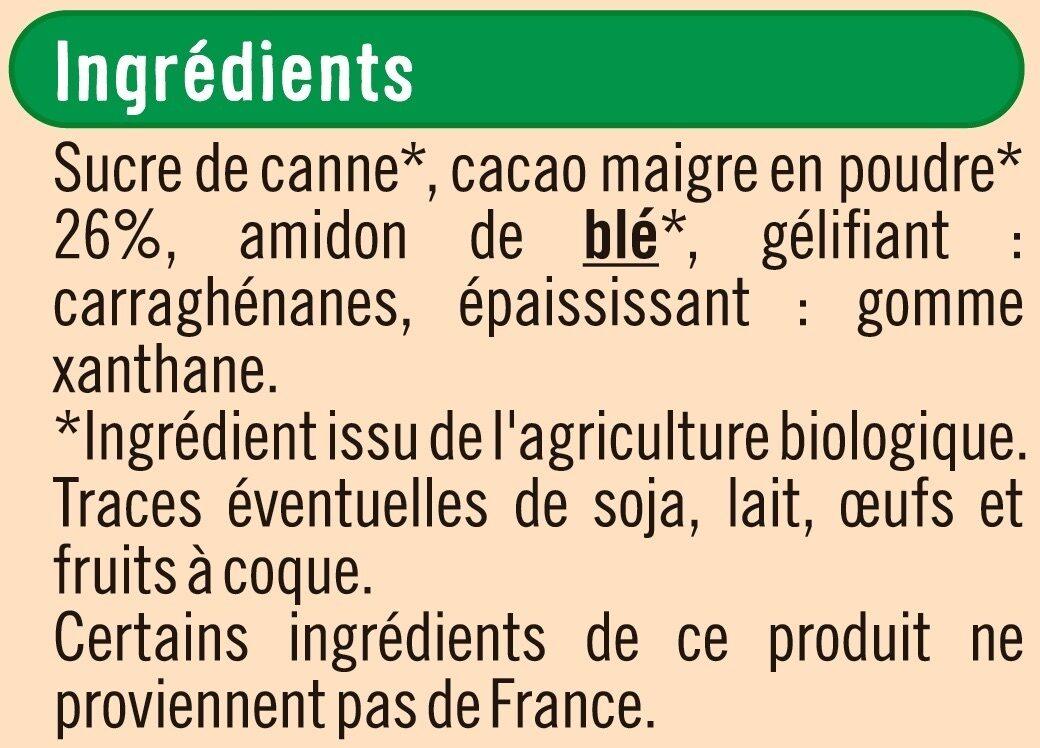 Préparation pour entremets chocolat - Ingrédients - fr