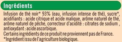 Infusion de thé noir saveur pêche - Ingrédients - fr