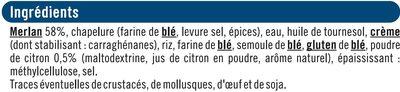 Merlan pané - Ingredients