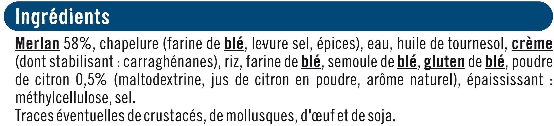 Merlan pané - Ingrediënten - fr