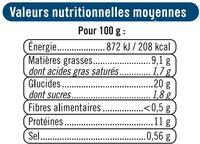 Merlan pané - Voedingswaarden - fr