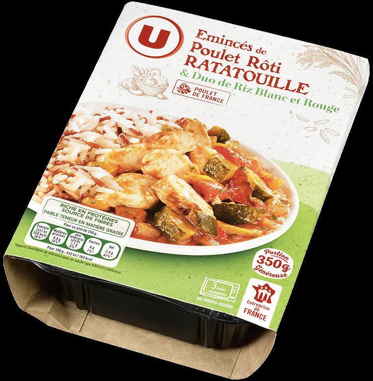 Poulet légumes ratatouille et duo de riz - Produit