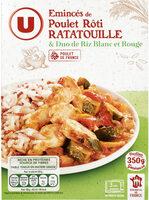 Poulet légumes ratatouille et duo de riz - Produit - fr