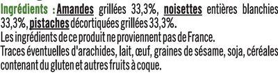 Snacking amande noisette pistache - Ingredients
