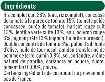 Chili con carne bon et végétarien - Ingrédients
