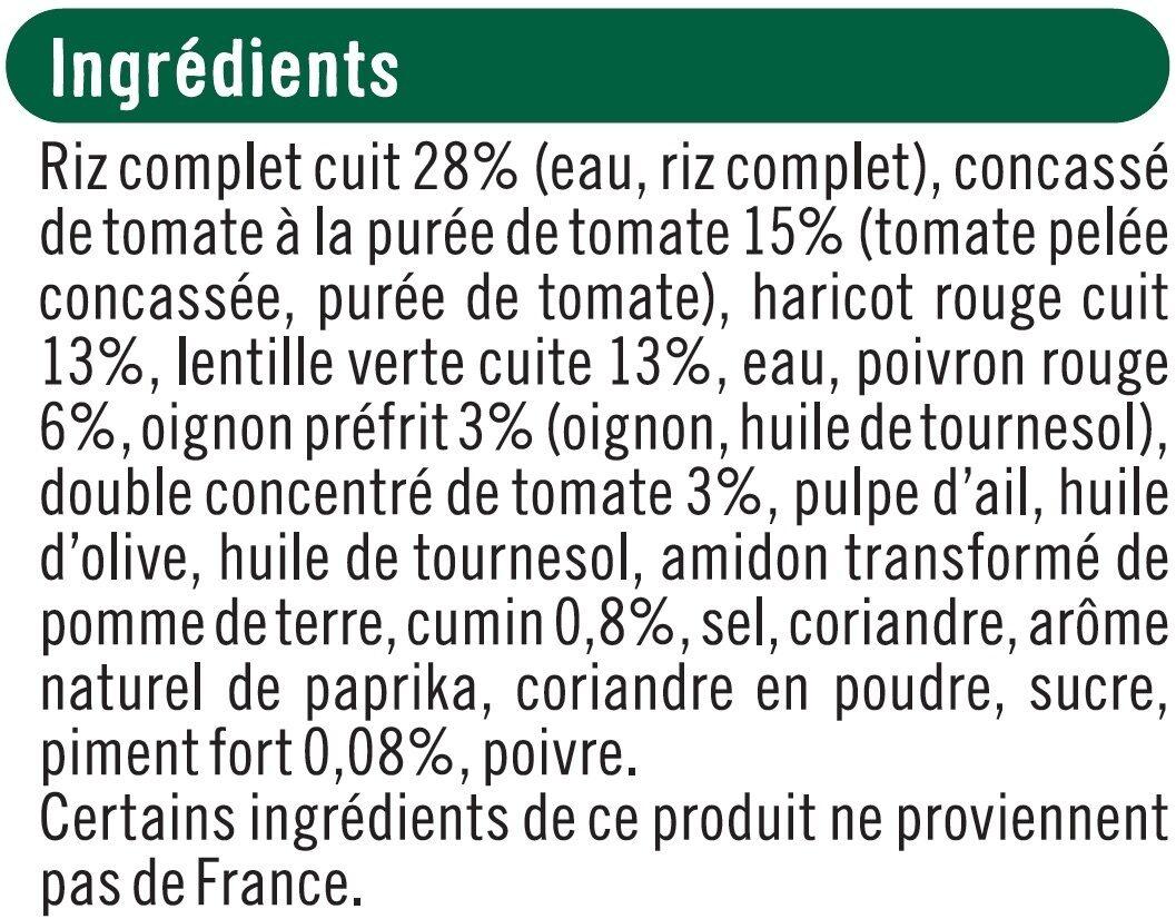 Chili sin carne bon et végétarien - Ingrédients - fr