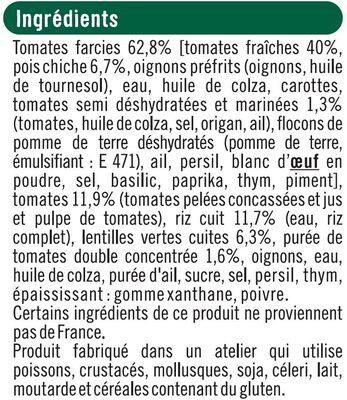 Tomates farcies bon et végétariens - Ingrédients - fr