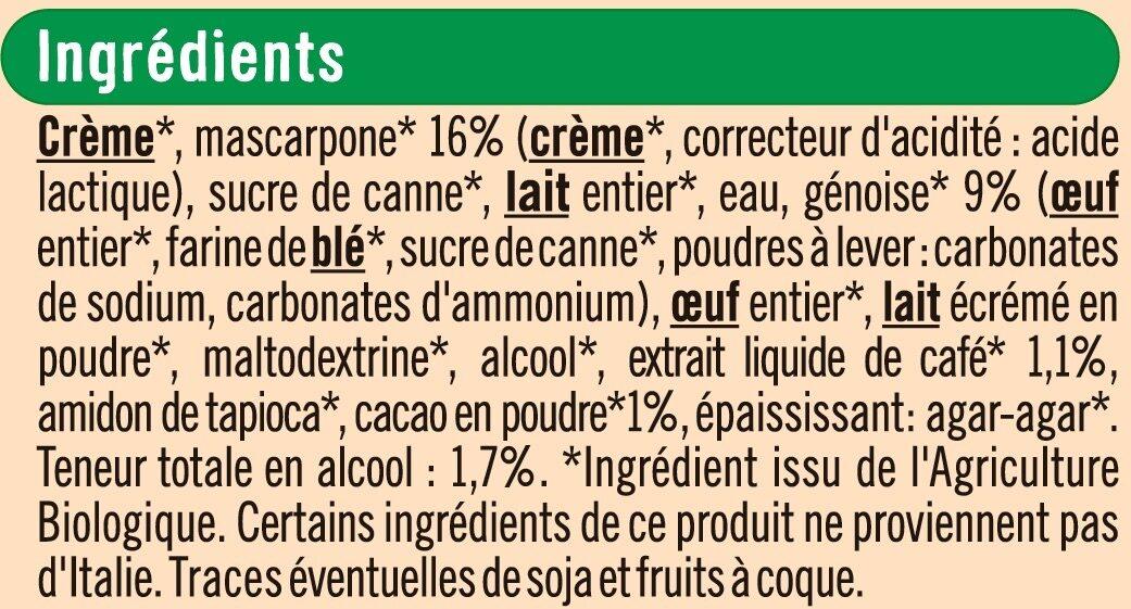 Tiramisu - Ingredients