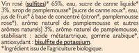Boisson aromatisé à base de vin rosé pamplemousse 8° - Ingredients
