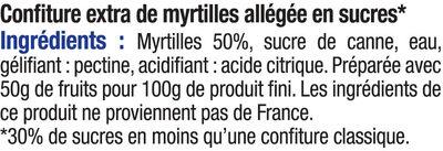 Confiture de myrtille allégée - Ingrediënten