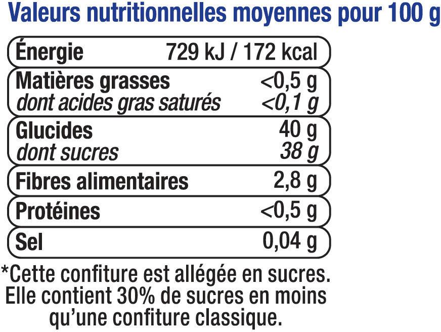 Confiture de myrtille allégée - Voedingswaarden - fr
