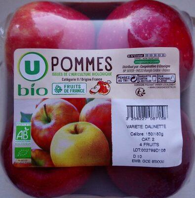 Pomme dalinette, 4 fruits calibre 150/180g catégorie 2 - Produit - fr