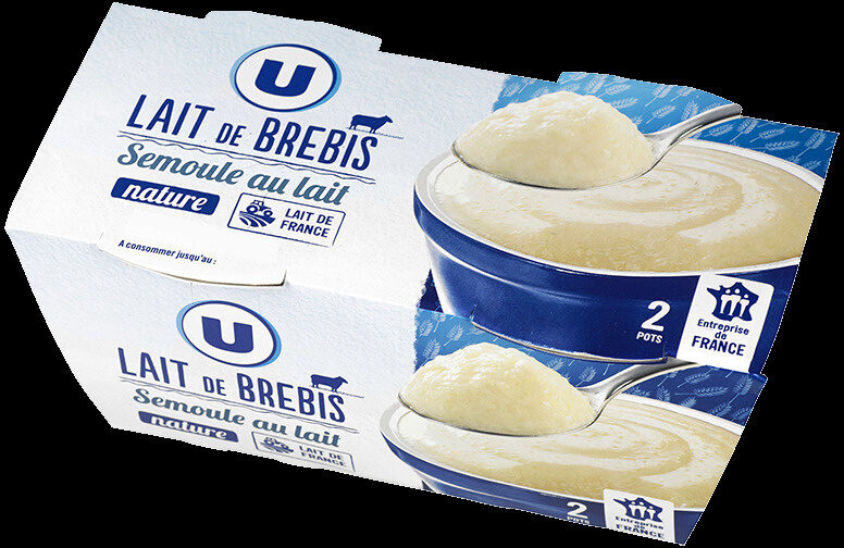Semoule au lait de brebis nature sucré - Product