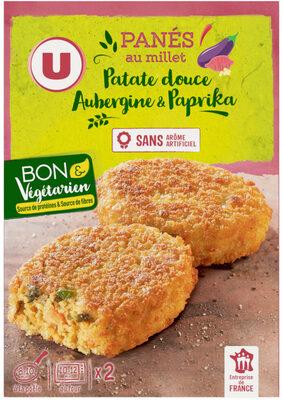 Panés au millet patate douce, aubergine paprika - Produit - fr
