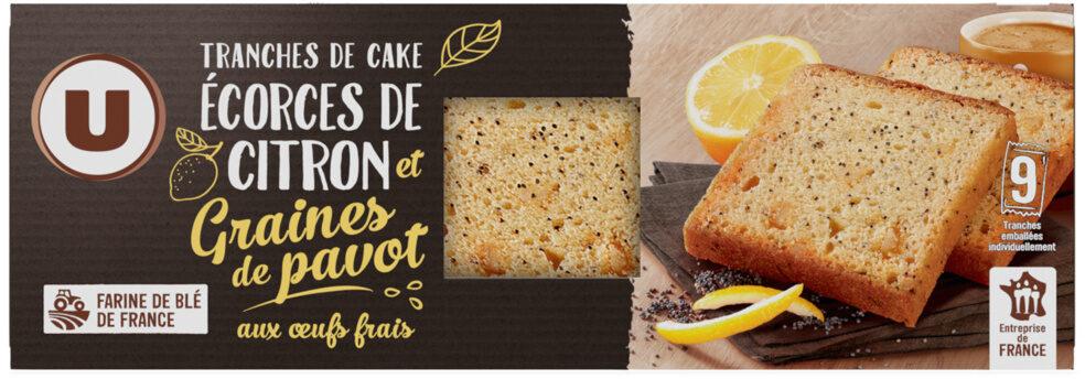 Tranches de cakes écorces de citron & graines de pavot - Product