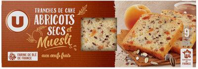 Tranches de cakes abricots & muesli - Product
