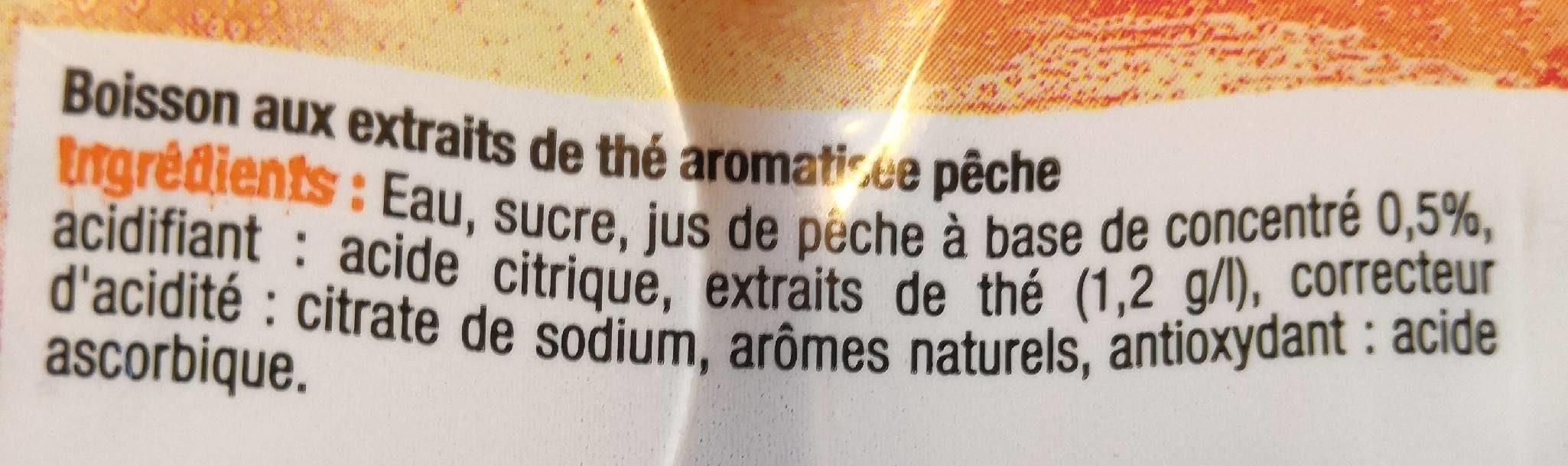 Boisson au thé saveur pêche - Ingrédients - fr