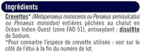 Gambas sauvages entières crues de Madagascar 12/16 - Ingrediënten - fr